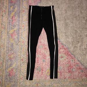 ZARA side stripe pants